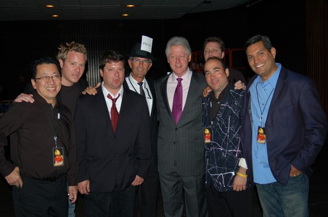 With President Bill Clinton, backstage after an EBB performance at the SF Civic Center