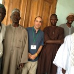 "With imams in Dakar, Senegal mosque, while doing ""Sahara Ceiling"" special on status of women"