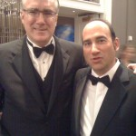 With fellow honoree Keith Olbermann at the Edward R. Murrow Awards in New York