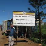 Walking across the border from Kenya into Uganda while doing AIDS special