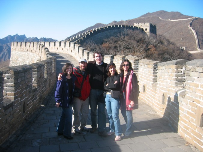 On the Great Wall, covering Gov. Schwarzenegger's trip to China, with amazing crew of reporters: Kate Folmar, Bob Salladay, Carla Marinucci, Beth Fouhy
