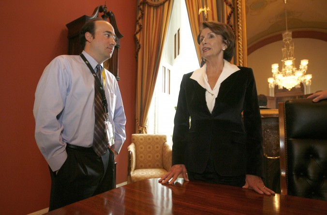 With Nancy Pelosi at the U.S. Capitol as she becomes the first female Speaker of the House