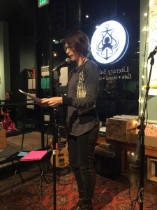 Claire Perry reads at the launch of THERE, 10/16/15
