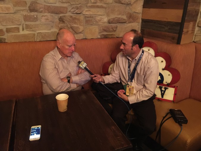 Interviewing CA Governor Jerry Brown at the 2016 DNC