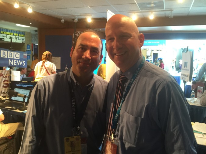 With my college classmate, Delaware Gov. Jack Markell, at the 2016 DNC!
